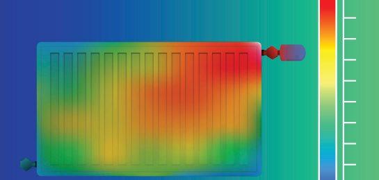 Energieeffizienz einer Heizungsanlage Infrarotbild
