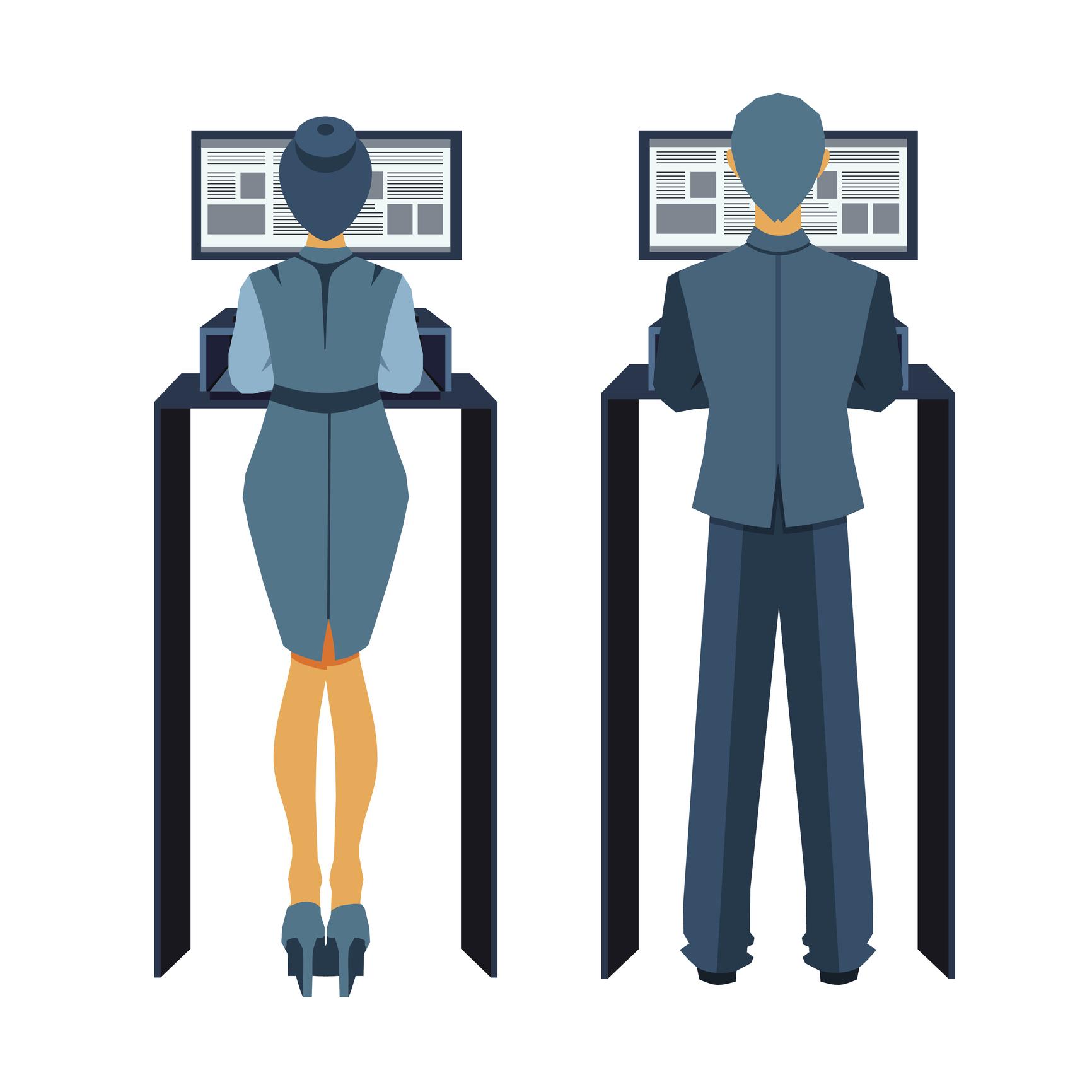 studie arbeiten im stehen ist produktiver als im sitzen. Black Bedroom Furniture Sets. Home Design Ideas