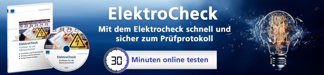 ElektroCheck - Die wahrscheinlich vollständigste Sammlung an Prüfprotokollen zur Elektrosicherheit