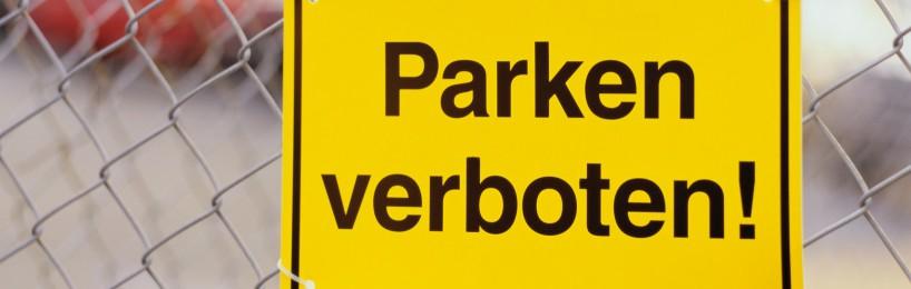 Parkflaechen X-Markierungen