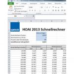 Honorarschnellrechner nach HOAI 2013