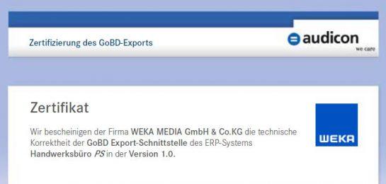 GoBD-konforme Rechnungsstellung
