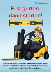 Es gibt jetzt Poster für mehr Sicherheit beim Gabelstaplerfahren kostenlos zum Downloaden.