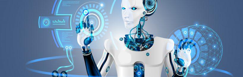 Humanoider Roboter Zukunftskonzept