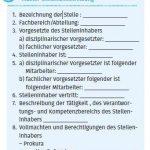 Stellenbeschreibung Muster für Einbindung in Arbeitsvertrag
