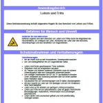 Muster-Betriebsanweisung Leitern