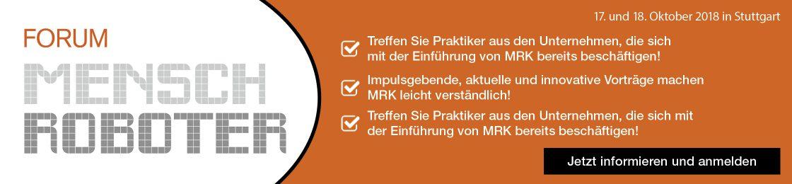 Forum Mensch Roboter am 17. und 18. Oktober in Stuttgart