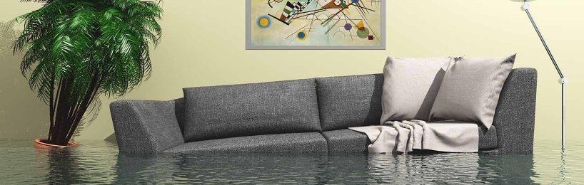 Hausrat Versicherung, Wasserschaden, überflutetes Zimmer