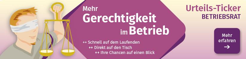 Urteils-Ticker Betriebsrat Banner
