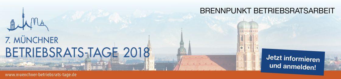 Münchner Betriebsrats-Tage 2018 Banner