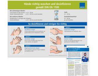 """Poster """"Hände waschen"""""""