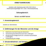 """Gratis-Download: Arbeitsanweisung """"Arbeiten unter Spannung nach VDE 0105-100 - Schutz-Technik und MSR-Technik"""""""