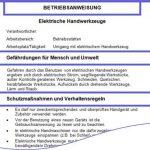 """Gratis-Betriebsanweisung """"Elektrische Handwerkzeuge"""""""