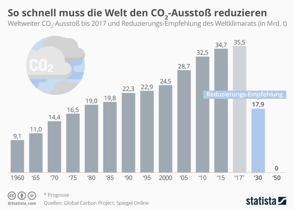 Der Weltklimarat hat bekannt gegeben, um wie viele Mrd. Tonnen der CO2-Ausstoß reduziert werden müsste.
