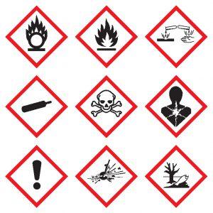 Gefahrstoffe Gefahrenpiktogramme nach GHS