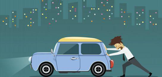 Auto wegschieben