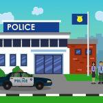 Filmaufnahmen Polizeistation