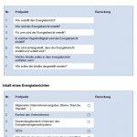 Checkliste Energieberichte