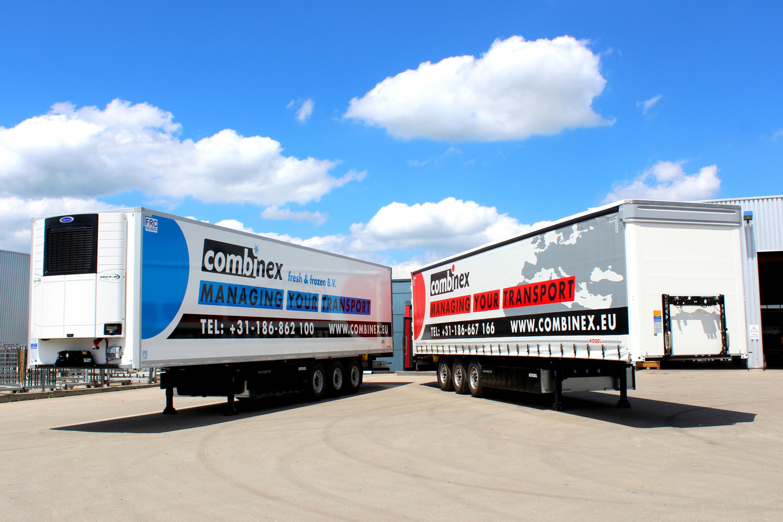 Combinex transportiert und kühlt mit Kögel-Aufliegern