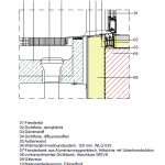 CAD-Detail Barrierefreier Fenstertüranschluss Laubengang