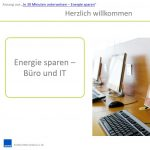 Energie sparen in Büro und IT