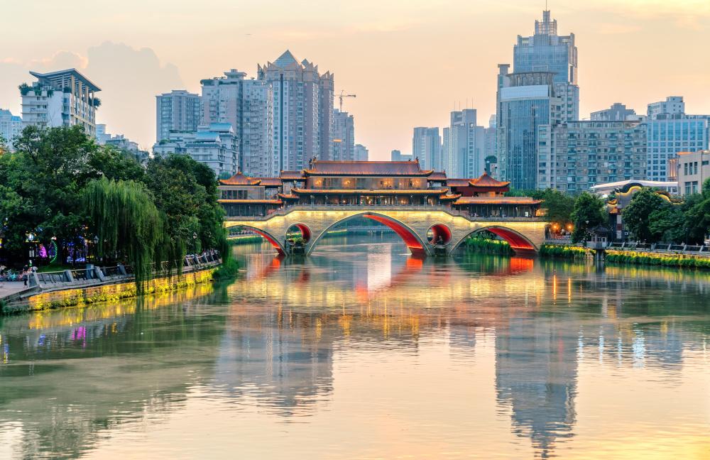 Anshun-Brücke in Chengdu
