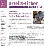 Gratis-Leseprobe Urteils-Ticker Betriebsrat