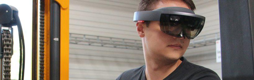 Besser Übersicht Gabelstapler dank AR-Brille