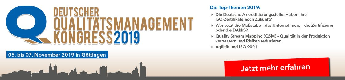 Qulitätsmanagement Kongress September 2019
