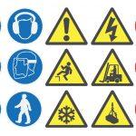Verschiedenartige Symbole für Sicherheitskennzeichnung