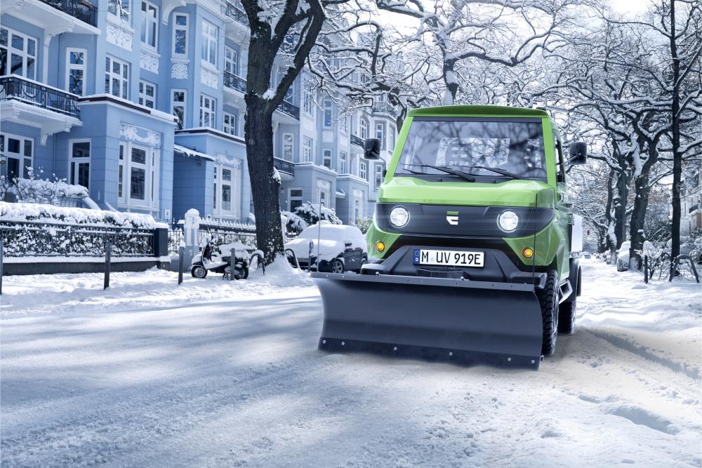 Auch für den Einsatz in der Stadt geeignet: der E-Transporter von Evum