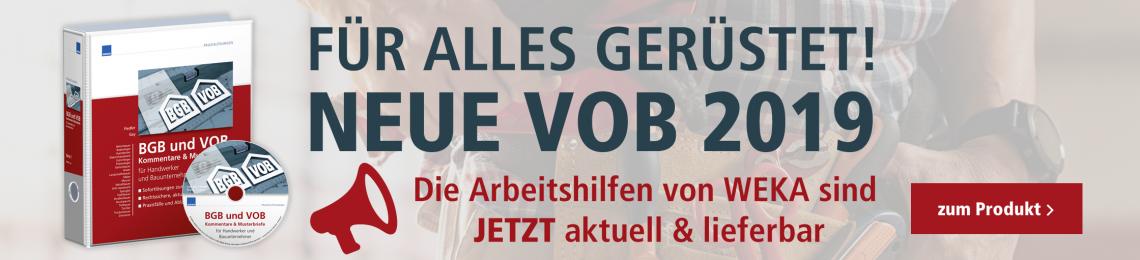 Slider Handwerk Neue VOB 2019