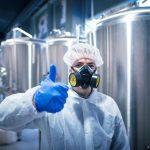 Gasmaske schützt vor erhöhten Arbeitsplatzgrenzwerten