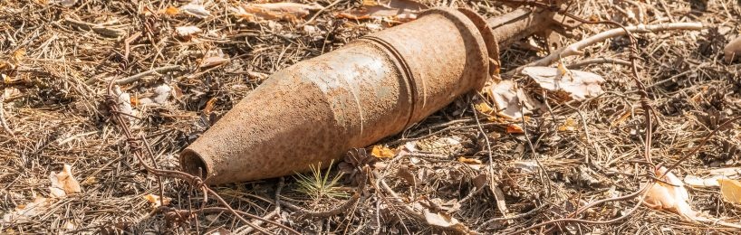 Nicht explodiertes Projektil - ein großes Risiko bei Baurarbeiten