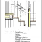 CAD-Detail: Oberer Anschlusspunkt einer Innentreppe aus Holz mit geschlossener Brüstung