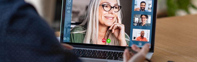 Videokonferenz über den Computerbildschirm