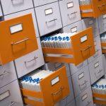 Offene Schubladen einer Datenbank