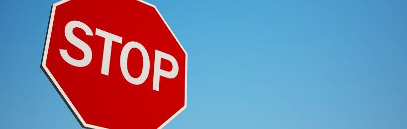 Stopschild: Eine Gesetzesreform soll den Handel mit fluorierten Treibhausgasen stoppen