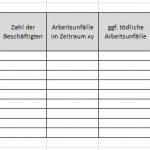 Unfallanalyse und betriebliche Unfallstatistik: Excel-Vorlage