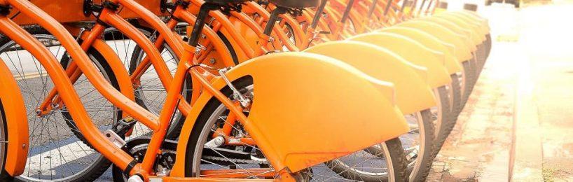 Abstellen von Mietfahrrädern