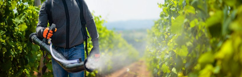 Versprühen von Biozidprodukten im Feld
