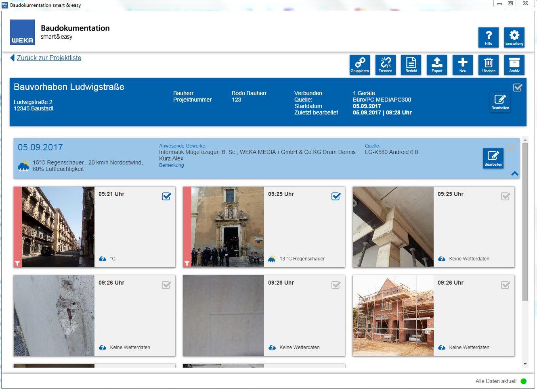 Baudokumentation Desktop Übersicht Verknüpfte Vorfälle