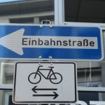 Radfahren gegen Einbahnstraße