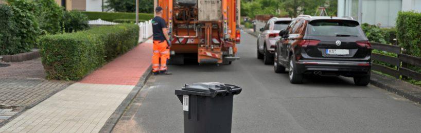 Mülltonne Verkehrsgefährdung