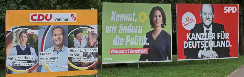 Wahlplakate Meinungsäußerung